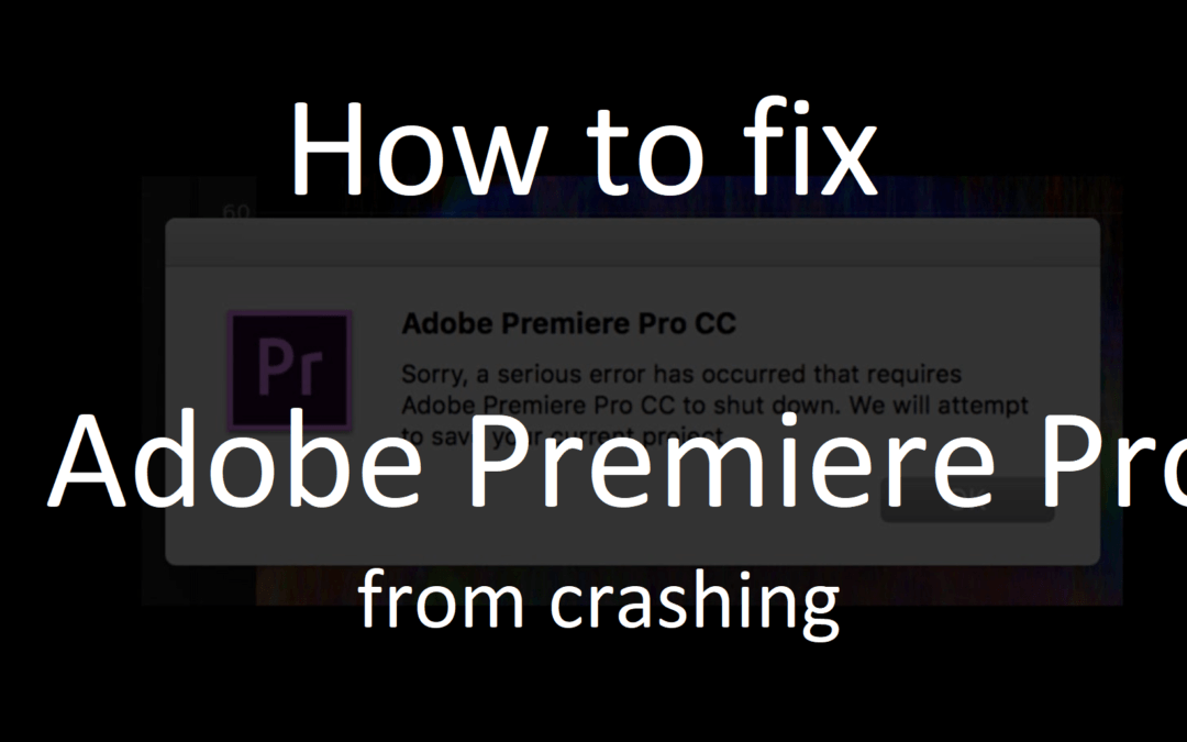 Adobe Premiere CC 2018 crashes en bugs