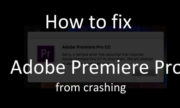 Adobe Premiere CC 2018 crashes en bugs