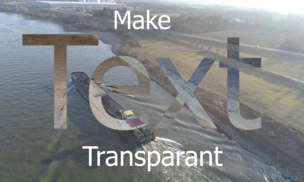 Hoe kun je tekst transparant maken ?