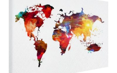 Trend voor aan de wand: de wereldkaart
