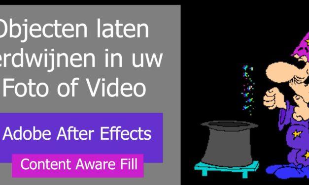 Adobe lanceert Content Aware Fill – het laten verdwijnen van objecten