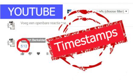 Timestamps gebruiken en toevoegen in Youtube