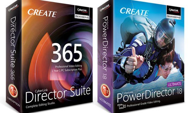 Cyberlink Director Suite 365 en Powerdirector 18 review