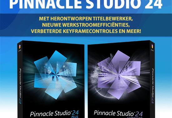 Pinnacle Studio 24 is uit